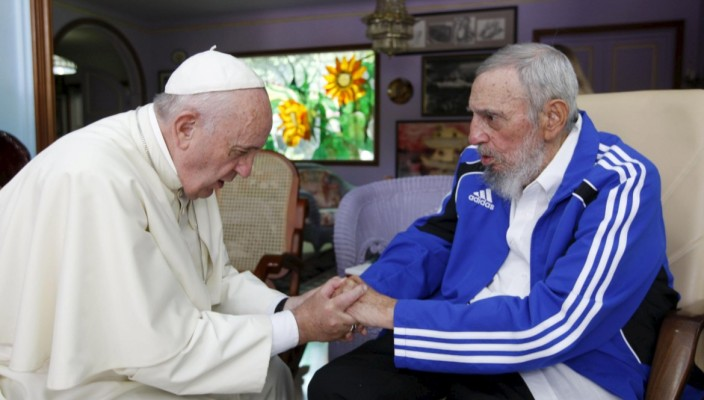 Resultado de imagen de Bergoglio con Castro