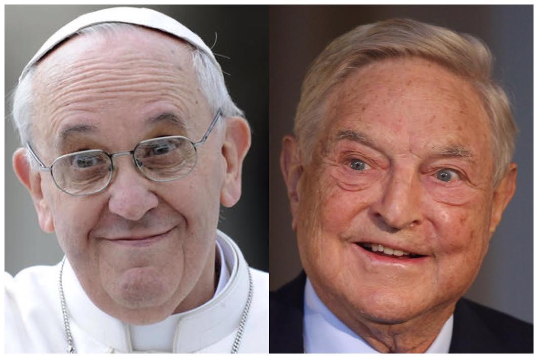 Nuovi show del papa gradito a soros